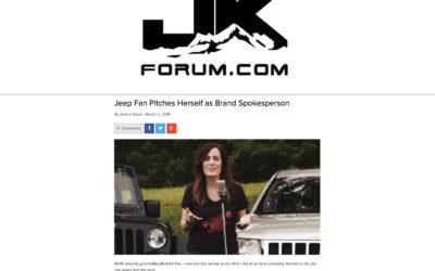 Jeep Fan Pitches Herself as Brand Spokesperson