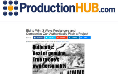 Bid to Win: 3 Ways Freelancers and Companies Can Authentically Pitch a Project